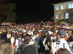 2018天燈祭ツアー 会場外の人並
