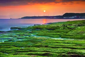 老梅海岸の老梅緑石槽