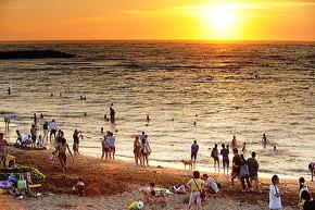 夕陽の名所 浅水湾