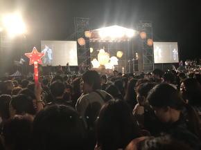 2018天燈祭ツアー 混雑ぶり