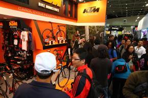自転車見本市会場