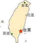 台湾台東地図